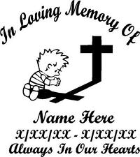 In Loving Memory Praying Child