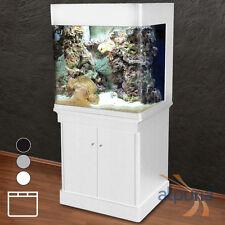 ungewöhnliches Panorama-Aquarium DRH-80 CUBE weiß T5 Meerwasseraquarium