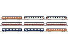 Märklin Z 87409 Wagen-Display mit 9 verschiedenen Eurofima Reisezugwagen