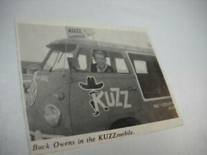 BICK OWENS in the KUZZ mobile 1966 music biz promo pic/text