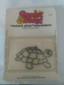 TURTLE Makit Bakit Make It Bake It Stained Glass Suncatcher Vtg NOS