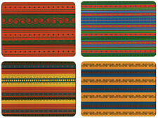 NEW Set of 4 Dining Table Placemats and Coasters African Textiles Design