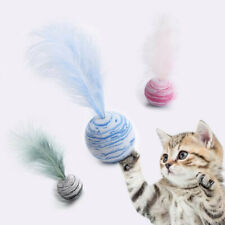 Star Ball Color Cat Toy With Feather Sucker Pet Toy