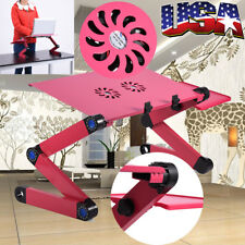 Portable Laptop Stand Desk Sofa Bed Tray Adjustable Computer Notebook Rose Red