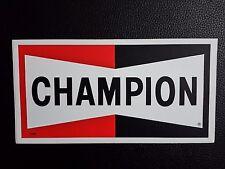 NOS Vintage Champion Spark Plugs NASCAR Racing Decal Sticker Garage Shop Rat Rod