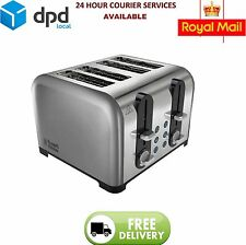 Russell Hobbs 22400 Toaster 4 Slice Wide Slot brushed/polished Chrome NEW