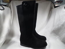 MICHAEL KORS EMMA LILY GIRLS BLACK SUEDE BOOTS YOUTH SIZE 1