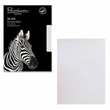 Premium Business A4 297 x 210 mm 120 gsm Laid Paper - High White (Pack of 50)