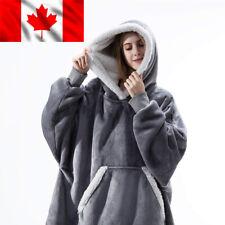Hoodie Blanket Oversized Ultra Plush Sherpa Giant Hooded Sweatshirt Reversible