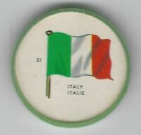 1963 General Mills Flags of the World Premium Coins #51 Italy