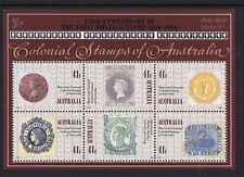 #MS17) Australian Mini Sheets 1990 150th Anniversary First Postage Stamp LONDON