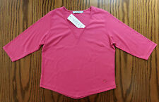 Ladies pink top Emreco 3/4 sleeve UK womens size 16 BNWT New