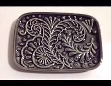 CYNTHIA ROWLEY GREY PAISLEY  CERAMIC SOAP DISH