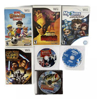 Wii Game Lot Of 7: Big Beach Sports, Harvey Birdman, My Sims Agents & More
