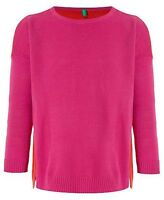 BENETTON Girls Pink Crew Neck Jumper size 8-9 years - Brand New