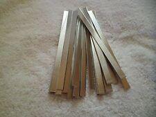 "25 Aluminum Bracelet Blanks 1/4"" x 6"" Bulk Lot 14 gauge, Stamp Etch Jewelry Art"