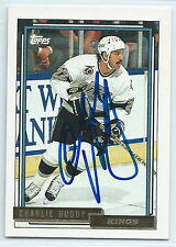 Charlie Huddy signed 1992-93 Topps gold hockey Los Angeles Kings autograph