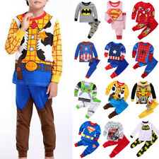 Avengers Spiderman Iron Man Pajamas Set Kids Boys Girl Nightwear Pajamas Outfits