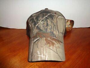 Real Tree AP Camo/Brown Mesh Back Baseball Cap/Hat Adjustable Snap Strap w/Tags