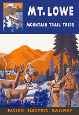 Mount Lowe Railway, Mountain Trail Trips - 1920's Advertising Poster