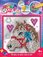 Sequin Art Pin-free kids craft kit - Horse 1832
