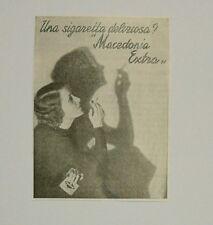 Pubblicità vintage 1938 SIGARETTE MACEDONIA SMOKE advertising werbung publicitè