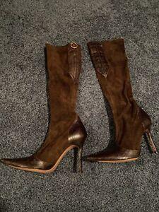 LES TROPEZIENNES Women's Brown Boots Size 38 1/2,read Description, Pre Owned,