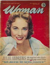 JULIE ANDREWS by PHILIPPE HALSMAN Rare early 1950's FASHION Woman Magazine VTG