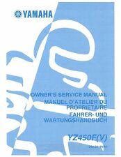 Yamaha owners service manual 2006 YZ450F(V)