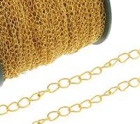 300cm METALLKETTE 5mm GLIEDERKETTE BASTELKETTE Schmuckkette GOLD K3