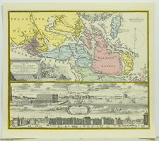Uplandischen Scheren Stockholm Color Johann Baptist Homann 1716 Reproduction Map