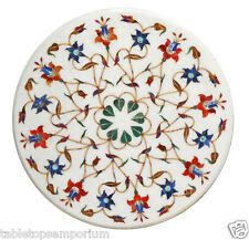 """18""""x18"""" Marble Living Room Coffee Table Top Stone Inlay Marquetry Mosaic Decor"""