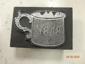 Printing Letterpress Printer Block Decorative Cup Baby Keepsake Print Cut