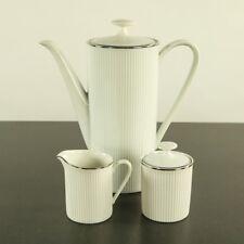 Arzberg 2075 weiß mit Platinrand Kaffeekanne Milch & Zucker Tischkern
