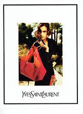 Publicité Advertising 058   2011   Yves Saint Laurent collection sac à main
