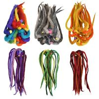 Donna Feltro Dreadlock Boemo Hippie Colorati Fascia Capelli Elastico Hairtie