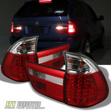 2000-2006 BMW X5 E53 Lumileds LED Red Clear Tail Lights Brake Lamps Left+Right