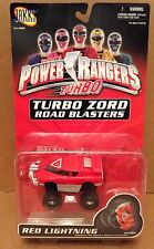 Power Rangers Turbo Red Lightning Red Vehicle Road Blasters Die-Cast Metal NEW