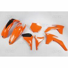 UFO KTM EXC EXCF 2014-2016 Couvre-radiateur OEM Blanc Orange