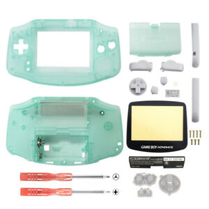 Clear Grow in the Dark Full Housing Shell+Screen Len for Gameboy Advance GBA