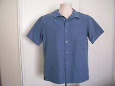 Tony HAWK Young Man Size XL Blue Modal Blend Short Sleeve Button Dress Shirt