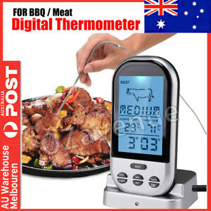 Food Meat Oven BBQ Thermometer Digital Wireless Remote Probe Cooking Set Grill