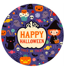 30 x Happy Halloween Cupcake Toppers Edible Wafer Paper Fairy Cake Topper