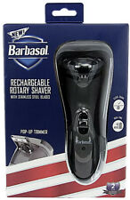 Barbasol Rechargeable Rotary Shaver w/ Stainless Steel Blades *BRAND NEW*