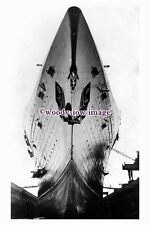 pu0923 - French CGT Liner - Normandie , built 1935 - photograph in drydock