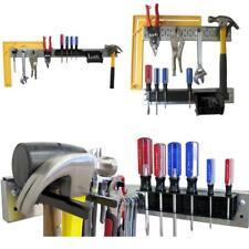 Pegboard Tool Organizer Lightweight Rail Strip Kit Shiny Galvanized Steel Strips