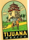 VINTAGE TIJUANA MEXICO SOUVENIR TRAVEL WATER TRANSFER DECAL ORIGINAL 1940s RARE