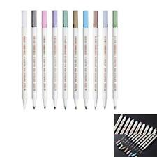 10 Colors Metallic Paint Marker Pens Metallic Sheen Glitter Calligraphy Art DIY
