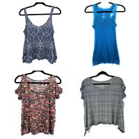 Lot Of 4 Womens Tops Size Small H&M American Eagle Mossimo Lilu