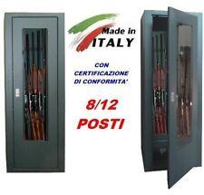 Armadietto contenitore blindato box con vetro porta fucili  8/12 posti caccia